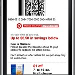 Target bar code on mobile